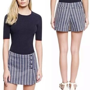 Tory Burch Belina Jean Skort Mini Skirt Shorts 4